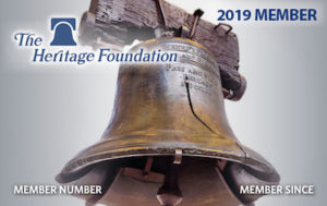 Heritage Foundation Membership Card 2019